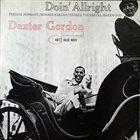DEXTER GORDON Doin' Allright album cover