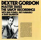 DEXTER GORDON Master Takes. The Savoy Recordings album cover