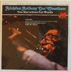 DOC CHEATHAM Too Marvelous For Words album cover