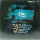 DONALD BYRD The Prestige All Stars : All Night Long album cover