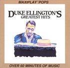 DUKE ELLINGTON Duke Ellington's Greatest Hits album cover