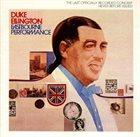 DUKE ELLINGTON Eastbourne Performance album cover