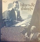 EARL HINES Earl Hines And Jimmy Rushing : Blues And Things album cover