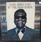 EARL HINES Earl Hines Live At The New School (Volume Two) album cover