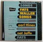EARL HINES Fats Waller Songs album cover
