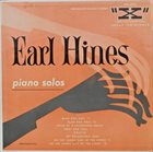 EARL HINES Piano Solos album cover
