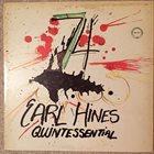 EARL HINES Quintessential '74 album cover