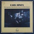 EARL HINES The Legendary Little Theater Concert Of 1964, Volume 1 album cover