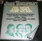 EARL HINES The Swing Piano: Earl Hines - Art Tatum - Teddy Wilson album cover