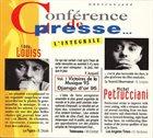 EDDY LOUISS Eddy Louiss & Michel Petrucciani : Conférence De Presse... L'Intégrale album cover