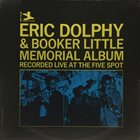 ERIC DOLPHY Eric Dolphy & Booker Little ‎: Memorial Album Recorded Live At The Five Spot album cover