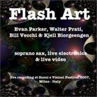 EVAN PARKER Evan Parker, Walter Prati, Bill Vecchi, Kjell Biorgeengen : Flash Art album cover