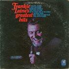 FRANKIE LAINE Frankie Laine's Greatest Hits album cover