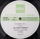 GIL SCOTT-HERON Gil Scott-Heron / Robert Cray : In Concert-397 album cover