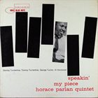 HORACE PARLAN Speakin' My Piece album cover