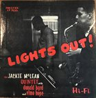 JACKIE MCLEAN Lights Out! album cover
