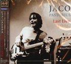 JACO PASTORIUS Last Live 1986 album cover