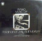 JAMES DAPOGNY Piano Music Of Jelly Roll Morton album cover