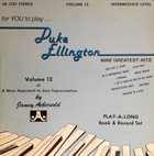 JAMEY AEBERSOLD For You To Play... Duke Ellington Nine Greatest Hits album cover