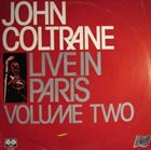 JOHN COLTRANE Live In Paris Volume Two album cover