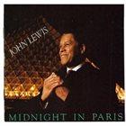 JOHN LEWIS Midnight In Paris album cover