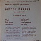 JOHNNY HODGES Volume Two album cover