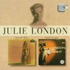 JULIE LONDON About the Blues / London by Night album cover