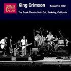 KING CRIMSON August 13, 1982 - The Greek Theatre Univ. Cal., Berkeley, California album cover