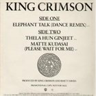 KING CRIMSON Elephant Talk album cover
