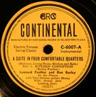 LEONARD FEATHER Leonard Feather And Dan Burley : A Suite In Four Comfortable Quarters (Bedroom, Living Room, Kitchen And Bath) album cover