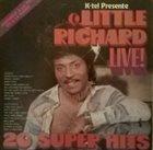 LITTLE RICHARD K-tel Presents Little Richard Live! 20 Super Hits album cover