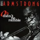 LOUIS ARMSTRONG Oh Didn't He Ramble album cover