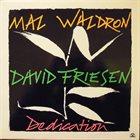 MAL WALDRON Mal Waldron / David Friesen : Dedication album cover