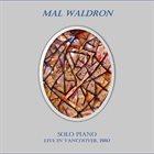 MAL WALDRON Solo Piano Live in Vancouver, 1980 album cover
