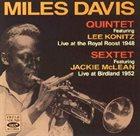 MILES DAVIS Quintet 1948/Sextet 1952 album cover