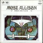 MOSE ALLISON Sings And Plays (aka Takes To The Hills aka V-8 Ford Blues) album cover