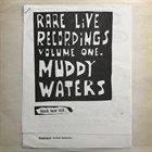 MUDDY WATERS Rare Live Recordings Vol. 1 album cover