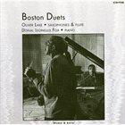 OLIVER LAKE Boston Duets (with Donal Leonellis Fox) album cover
