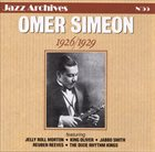 OMER SIMEON 1926 / 1929 album cover