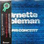 ORNETTE COLEMAN Paris Concert album cover