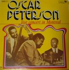 OSCAR PETERSON Live Concert In Montreal album cover