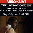 OSCAR PETERSON Oscar Peterson, Louis Bellson, John Heard ‎: The London Concert album cover