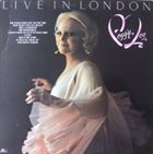 PEGGY LEE (VOCALS) Live In London album cover
