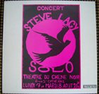 STEVE LACY Solo - Théâtre Du Chêne Noir album cover