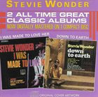 STEVIE WONDER Down to Earth / I Was Made to Love Her album cover