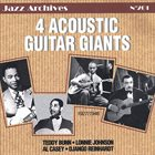 TEDDY BUNN 4 Acoustic Guitar Giants (1927/1946) (with Al Casey ,Lonnie Johnson ,Django Reinhardt) album cover