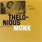 THELONIOUS MONK Genius Of Modern Music Volume 1 (CD version) album cover