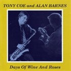 TONY COE Days of Wine and Roses album cover