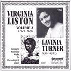 VIRGINIA LISTON Virginia Liston, Vol. 2: 1924-1926 album cover