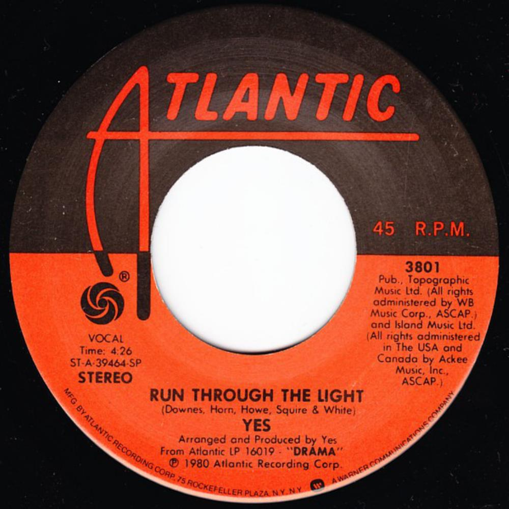 YES - Run Through the Light cover